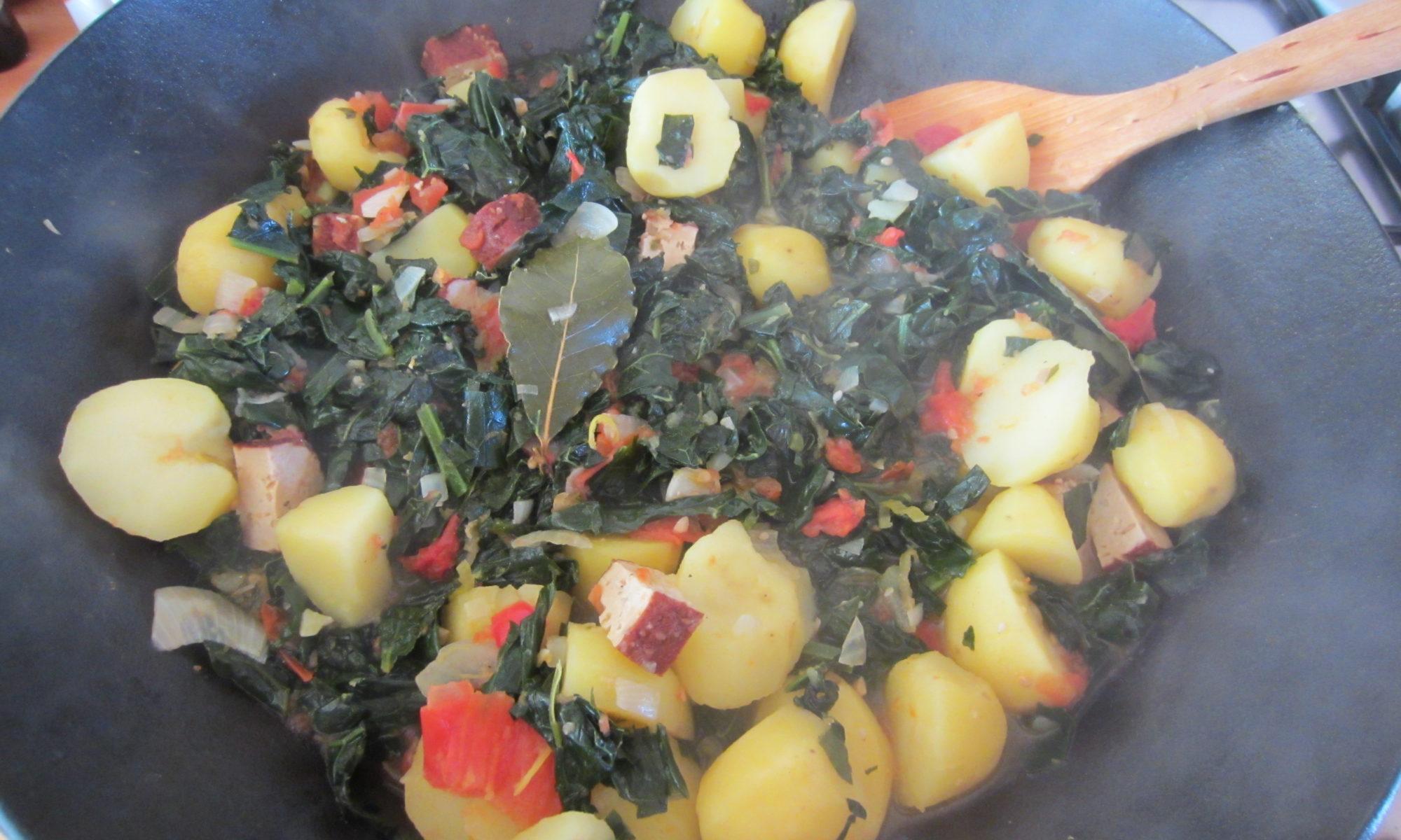 Schwarzkohl-Kartoffel-Eintopf