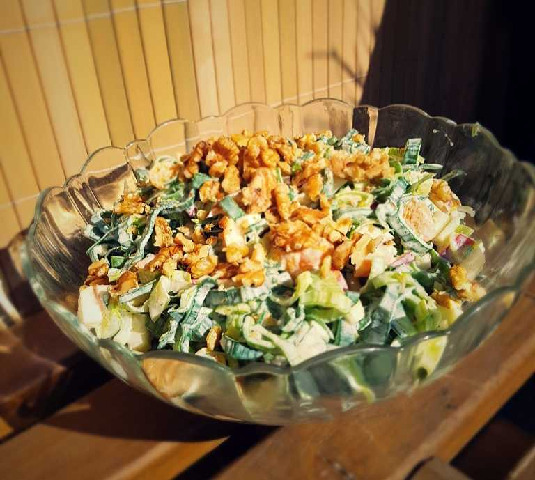 Porree-Apfel-Mandarinen Salat